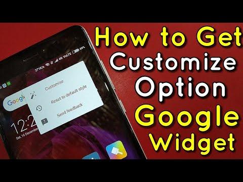 How to Get Google Search Bar Widget Customize Option   Hindi - हिंदी