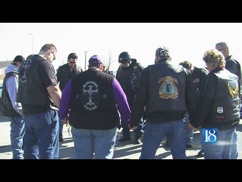 Motorcycle ride aims to cover grieving community in prayer