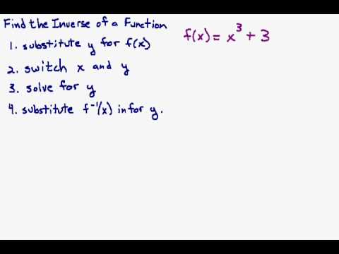 Find the Inverse of a Cubic Function