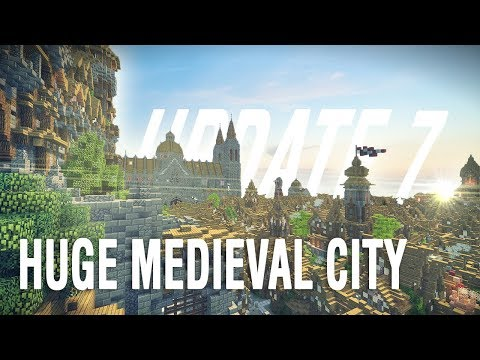 MINECRAFT: HUGE MEDIEVAL CITY   Theams City Update #7