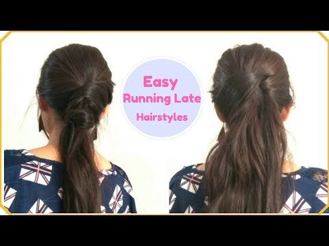 2 EASY RUNNING LATE Ponytail Hairstyles For Frizzy&Unmanageable hair| Quick Hair Hacks Without COMB