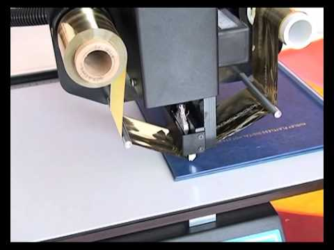 Audley digital hot foil stamping machine ADL-3050A printing effect.flv