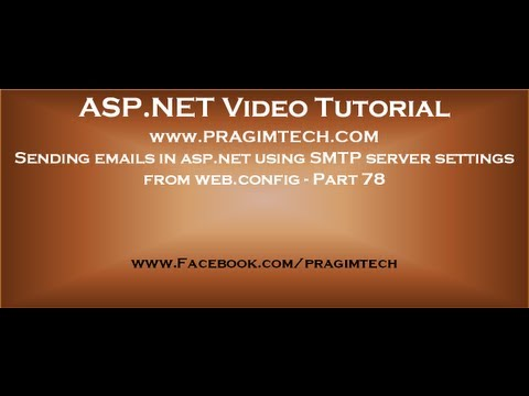 Sending emails in asp.net using SMTP server settings from web config   Part 78