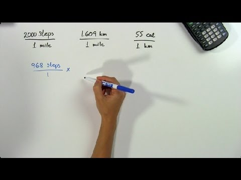 How to Convert Steps to Miles to Kilometers to Calories Burned : Math Problems & Trigonometry