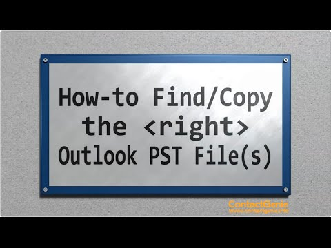 Finding/Selecting the right Outlook Data Files