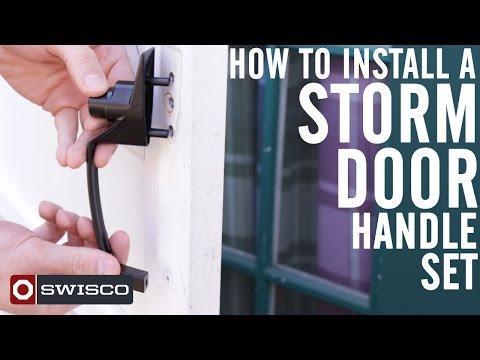 How to Install a Storm Door Handle Set [1080p]