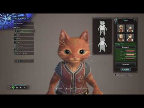 Monster Hunter: World PUSS IN BOOTS PALICO character customization