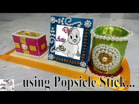 How to make a Beautiful & Attractive Pen Stand with Photo Frame | Popsicle Stick Craft | Diy