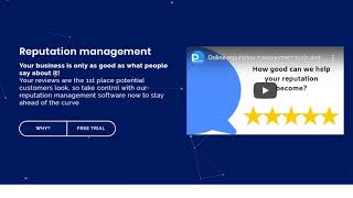 Done for you package - Reputation management software free trial