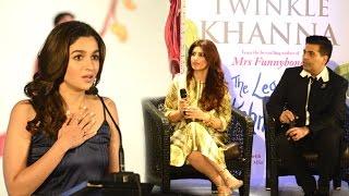 CUTE Alia Bhatt Reading Twinkle Khanna