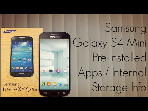 Samsung Galaxy S4 Mini First Boot - Pre-Installed Apps / Internal Storage Info