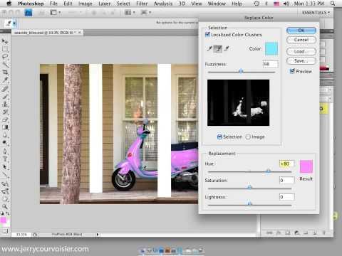 Photoshop CS4 Replace Color Adjustments