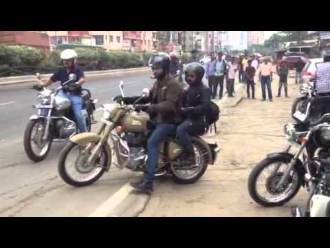 Royal Enfield One Ride 2016 Flag Off from Kolkata Bike Zone