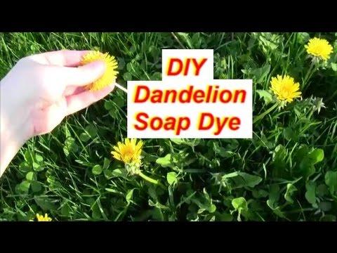 Natural DIY Dandelion Soap Dye