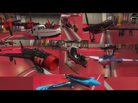 GTA 5 Smuggler's Run DLC (Customizing ALL New Aircraft in Hangar)