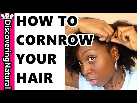 HOW TO BRAID YOUR OWN HAIR | Cornrow, Flat Twist, Directions