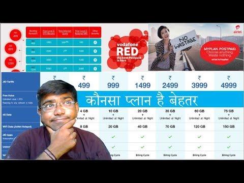 Reliance Jio Vs Vodafone Vs Airtel Postpaid Plan