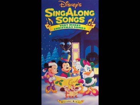 Disney Very Merry Christmas Sing Along Songs.Opening Closing To Disney S Sing Along Songs Very Merry Christmas Songs 1990 Vhs