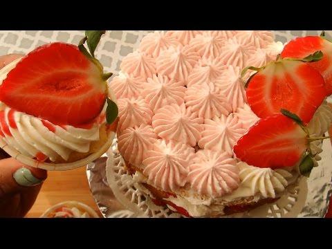 Strawberry Shortcake Cake & Cupcakes