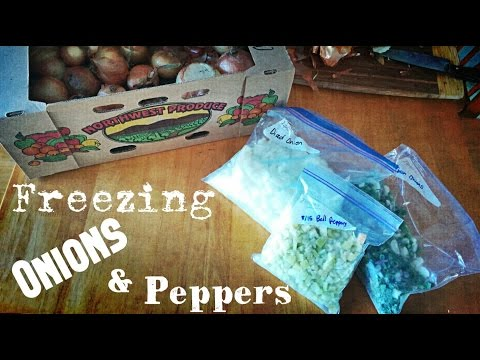 Food Storage | Freezing Onions & Peppers