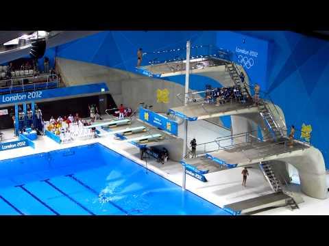 Backwards 3.5 Pike Dive, London 2012 Olympics Mens 10m Platform