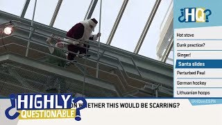 A massive dunk disaster, Santa having trouble, and other fan fails | Highly Questionable | ESPN