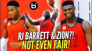 Zion Williamson & RJ Barrett ON THE SAME TEAM!! McDonalds All American Practice! Day 1 Highlights!