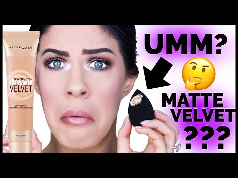 $10 MAYBELLINE MATTE HYDRATING FOUNDATION!!?? REVIEW + 12 HOUR WEAR TEST!!!