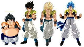 Gogeta Power Levels All Forms Over The Years (dbz/dbs)