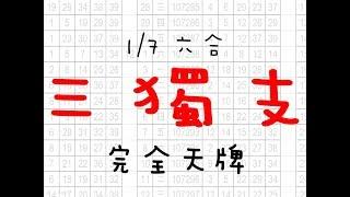1月7日 六合彩版路 三獨支 完美三版版路 香港六合彩版路號碼預測 【六合彩財神爺】