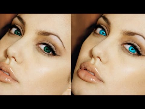 Change Eye Color In Photoshop - Quick Masking Tutorial