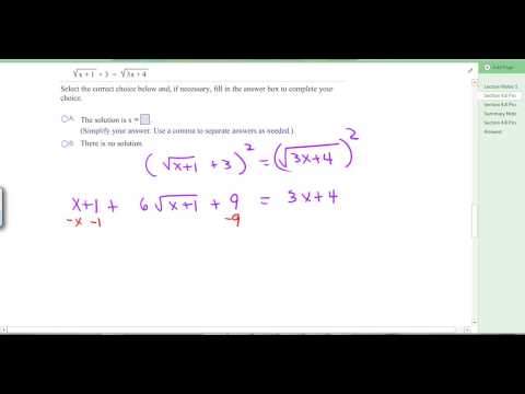 Section 4.8 Radical Equations and Power Functions