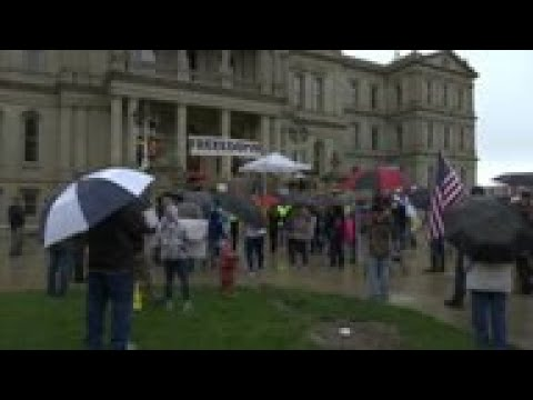 Protest in Michigan over stay-at-home order
