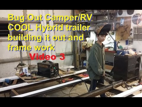 Building Bug Out camper RV hybrid frame & metal work 🔨  #3