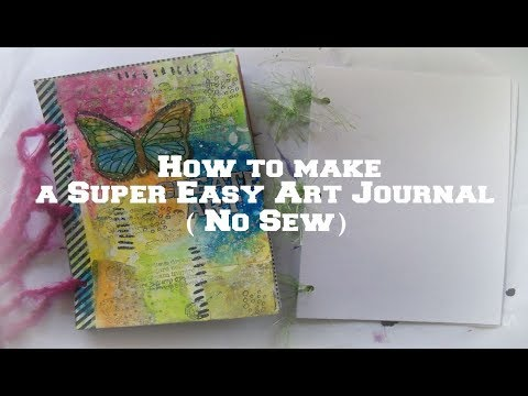 how to make a easy art journal for beginner/ No Sew/  3 hole punch journal