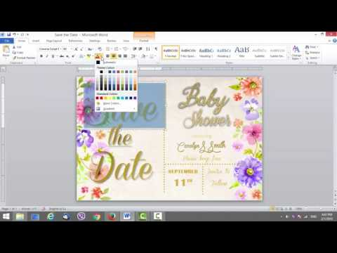 Save the Date Card Template in MS Word