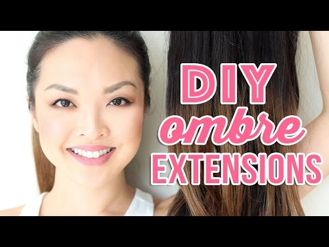 HOW TO: Dye and Ombre Hair Extensions At Home!