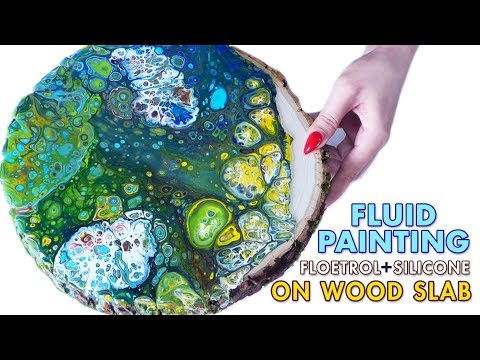 Fluid Acrylic Pouring Tutorial - FLOETROL & SILICONE