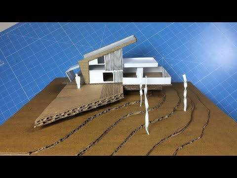 MODEL MAKING OF MODERN ARCHITECTURAL BUILDING 2|out of cardboard | time saving and easy way.