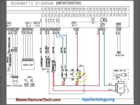Amana   Samsung NFW7200TW Washer Schematic Analysis
