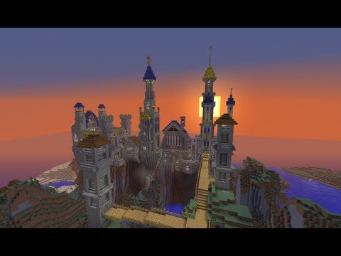 Minecraft Fantasy Castle Build Timelapse