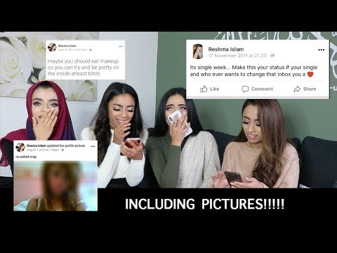 REACTING TO OUR OLD FACEBOOK POSTS INCLUDING PICTURES!!!