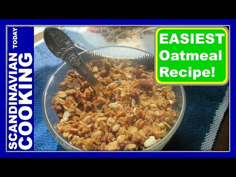 How to Make Toasted Oatmeal  - An Old Fashion Danish Version of a Granola - Ristede Havregryn