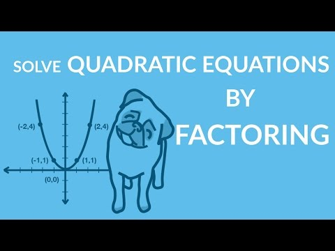 ʕ•ᴥ•ʔ Easily Learn to Solve Quadratic Equations by Factoring