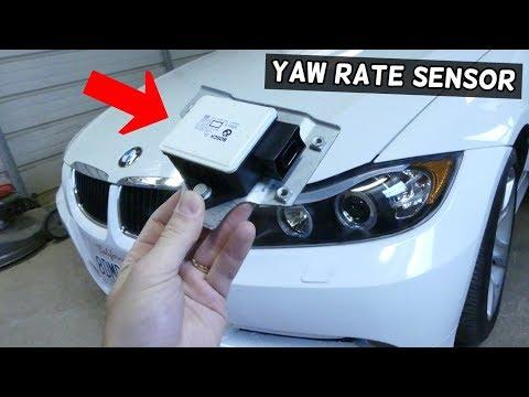 YAW RATE TRACTION CONTROL SENSOR REPLACEMENT LOCATION BMW E90 E91 E92 E93