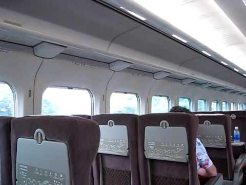 Shinkansen (bullet train) from Tokyo to Osaka
