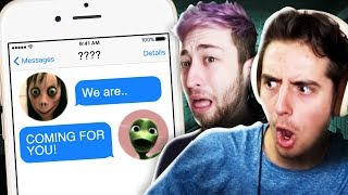 The Pals React To Creepy Chat Stories! (pals React To Scary Text Stories)
