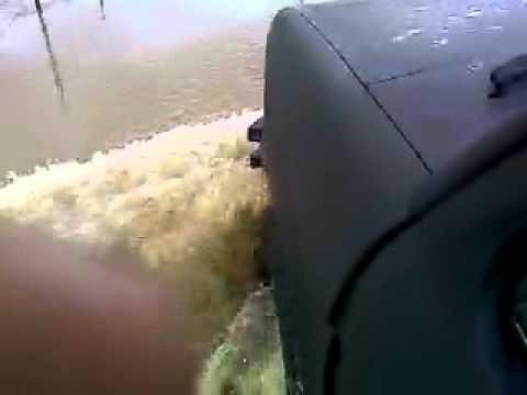 going through the river