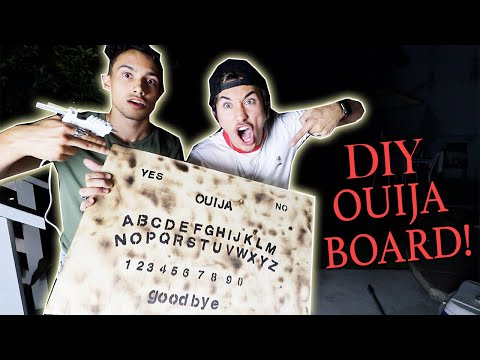 DIY How to make your own OUIJA BOARD! *CHEAP AND EASY*