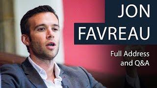 Jon Favreau Life As Obamas Speechwriter Full Address And Qa